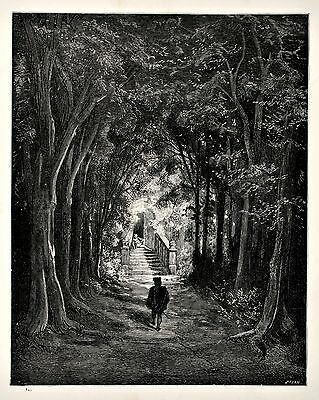 Vintage print circa 1870 Fairy Realm Illustrated by Gustave Dore