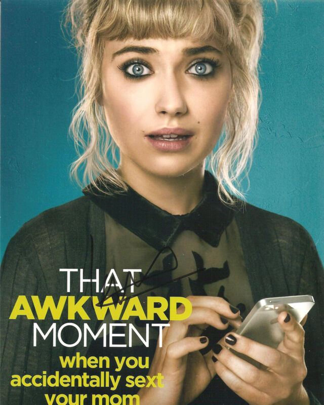 IMOGEN POOTS SIGNED 8X10 PHOTO PROOF COA AUTOGRAPHED THAT AWKWARD MOMENT