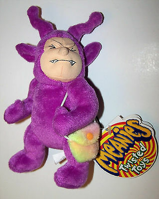 Vintage 1999 Teletushy Meanie Babies: Twisted Toys Limited Edition Plush