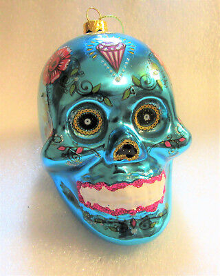 Halloween Face Painting Day Of The Dead (DAY OF THE DEAD Skull Face Painting October Halloween Christmas Glass)