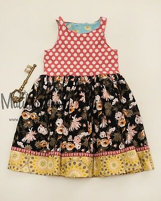Matilda Jane Girls Size 6 Lottie Dottie Tank Dress Number 6 out of 9 Made New](Girls Out Of Clothes)