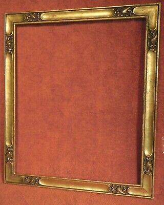 Solid Wood Ornate Gold  /& Linen Picture Frame  11 x 9 Floral Embellishment