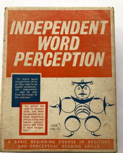 12 Filmstrips: Mid Century Early Education in Reading Skills: Independent Word