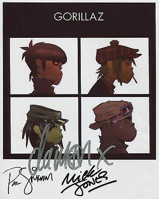 The Gorillaz SIGNED Photo 1st Generation PRINT Ltd, No'd + Certificate (1)