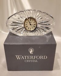 Waterford Crystal Desk / Nightstand Clock - Boxed - Gift