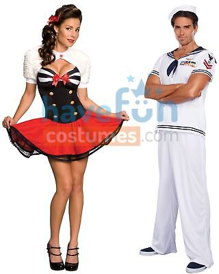 Couples Costumes Sailor and Naval Pinup Fancy Dress Adult Halloween Rubies