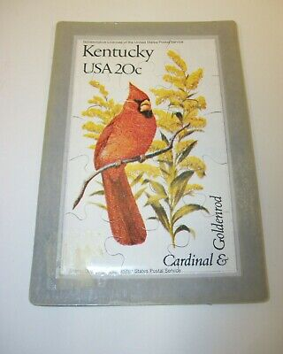 1982 Kentucky State Bird & Flower Puzzle Postcard - Sealed ()