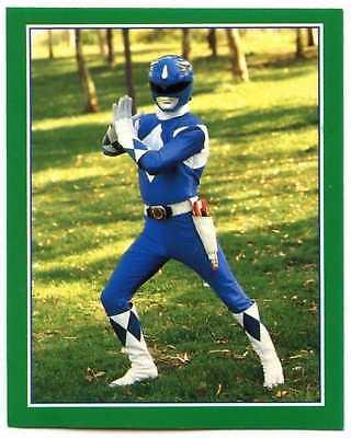 Blue Power Ranger #214 Power Rangers 1994 Merlin Sticker (C1379)