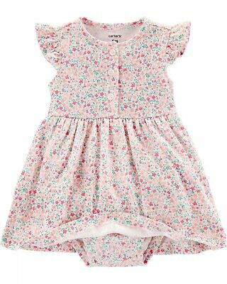 Carter's Baby Girl Floral Dress and Cardigan Set 6, 9, 12 months