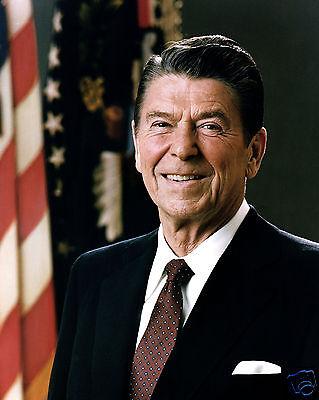 (President Ronald Reagan USA 1981 Portrait 11 x 14 Photo Picture Photograph)