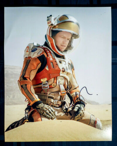 Matt Damon Signed Autographed 'The Martian' 11x14 Photo EXACT Proof COA