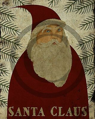 Primitive Christmas Santa Claus Belsnickle St Nick Nicholas Print 8x10
