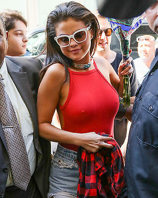 Selena Gomez Braless 8X10 Glossy Color Picture Photo Collectible Hot Celebrity