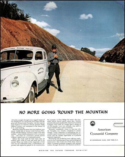 1941 Pennsylvania Motor Policeman American Cyanamid vintage photo print ad L33