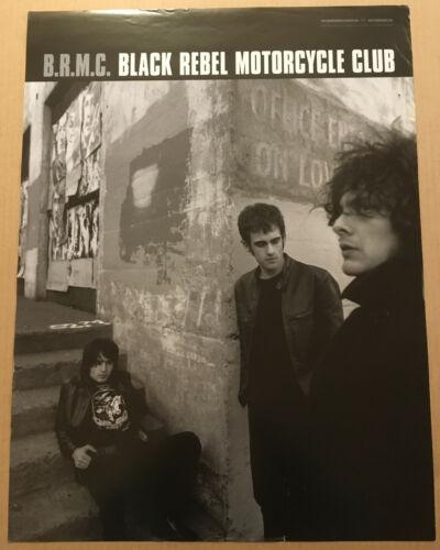 BLACK REBEL MOTORCYCLE CLUB 2001 PROMO POSTER 4 B.R.M.C. CD 18x24 Never Displayd
