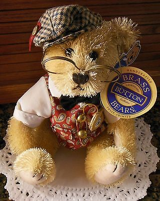 "Brass Button Bear ""Bentley, The Bear of Wealth"" Legendary Collection 2004"