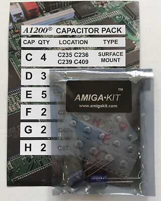 Professional Capacitor Pack for Amiga 1200 A1200 Recapping New Amiga Kit 1137 for sale  Shipping to Canada
