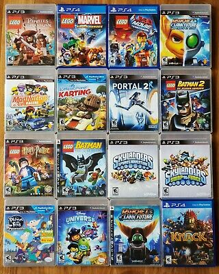 PS3 & PS4 Game Lot - Pick Your Games - Great Condition Lego Skylanders Knack