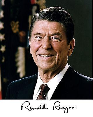 (Ronald Reagan 1981 Portrait Facsimile Autograph 11 x 14 Photo Picture Poster)