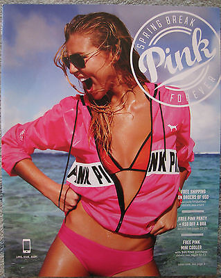Victorias Secret Pink Spring Break 2015 Catalog Rachel Hilbert Sara Sampaio Hot