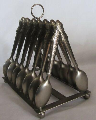 Vintage Toast Rack Metal Shaped Like Spoons