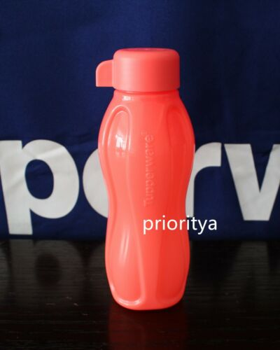 Tupperware ECO EXTRA Small Sport Water Bottle 10oz / 310ml Neon Coral New