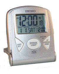 Seiko QHR014SLH Radio Controlled Alarm Clock Luminqs Display High Definition