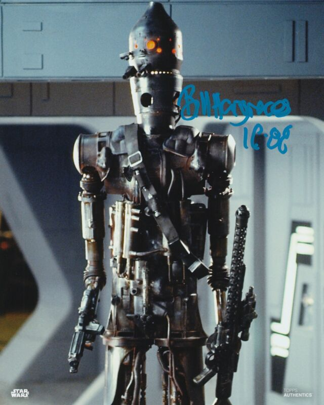 Bill Hargreaves Autograph 8x10 Photo Star Wars IG-88 Signed Zobie COA 2
