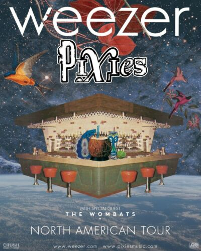 "WEEZER / PIXIES / THE WOMBATS ""2018 NORTH AMERICAN TOUR"" CONCERT POSTER"