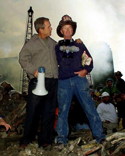 George W Bush 9/11 Firefighter 8X10 Photo Print