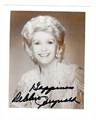 Debbie Reynolds Halloween Singin In The RainAutograph Hand Signed 4x5 Photo (Debbie Reynolds Halloween)