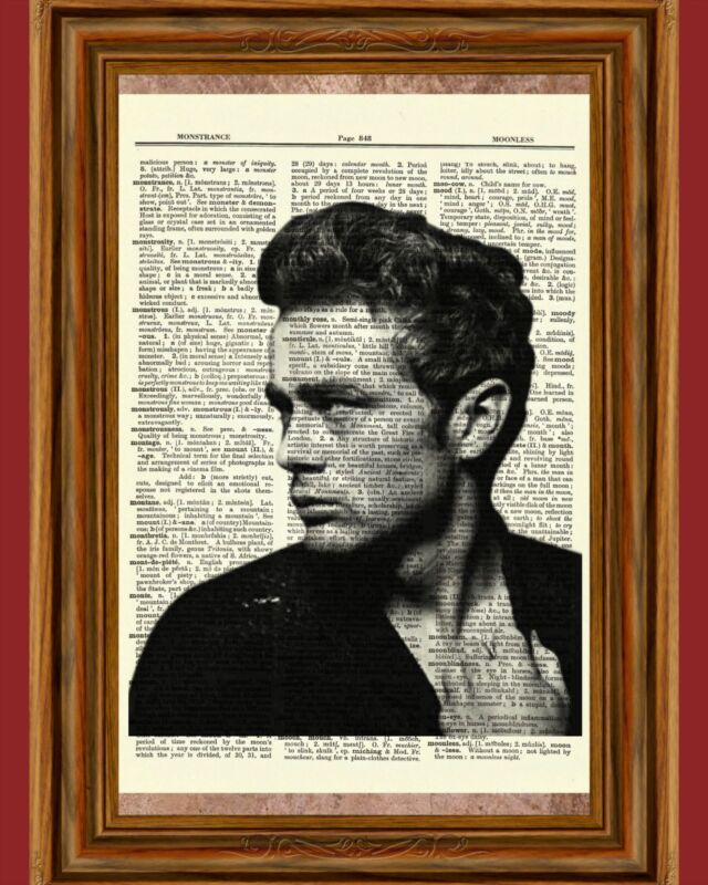 James Dean Dictionary Art Picture Book Picture Poster Rebel Cause Icon Hollywood