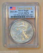2011 Silver Eagle MS70 First Strike