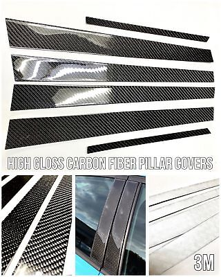 6PC 2X2 TWILL REAL CARBON FIBER PILLAR PANELS FOR 12-18 GS450H GS350 GSF URL10