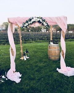 Beautiful wedding ceremony decor for rent