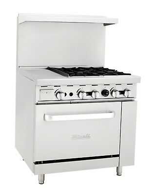 Migali C-ro4-12gl 4 Burner Range Oven With 12 Griddle Natural Gas