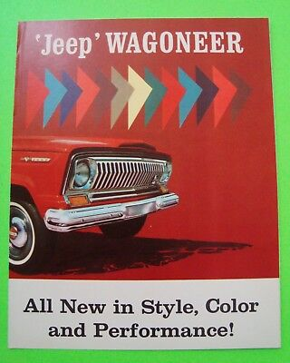 "ca 1965 KAISER JEEP ""WAGONEER""  COLOR FOLDER BROCHURE gorgeous NR-MINT"