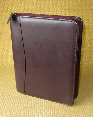 Classic 1.125 Rings Burgundy Leather Franklin Covey Zip Plannerbinder
