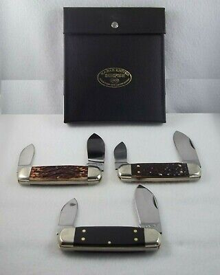 Ka-Bar Union Razor Co Sunfish 1986 Collectors Club 3 Elephants Toenail Knife Set