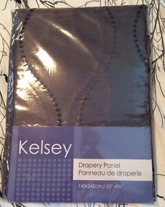 """Kelsey, Chocolate Brown drapery panel. 55 by 96"""". $5"""