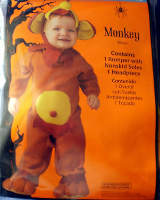 Infant~Adorable MONKEY HALLOWEEN COSTUME~0-6 Months~Too cute!!