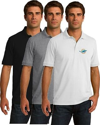 Miami Dolphins Golf Polo Shirt - up to 6X Embroidered - Miami Dolphins Golf Shirt