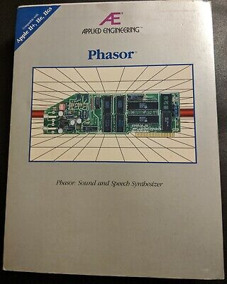 Applied Engineering Phasor sound card for Apple II - complete in box - working!