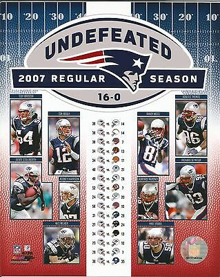 - NEW ENGLAND PATRIOTS 2007 UNDEFEATED 8x10 PHOTO FILE PHOTO