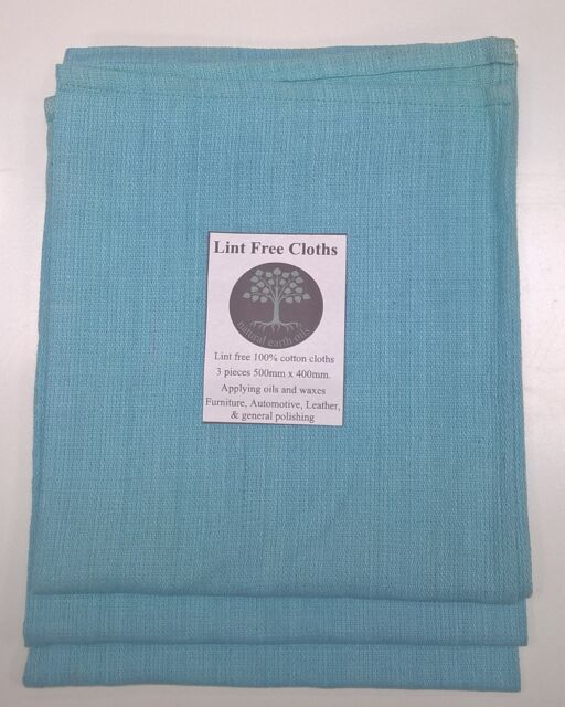 Lint Free Cloths -  24pack- natural earth oils-Apply Oils Waxes  Polish Dyes