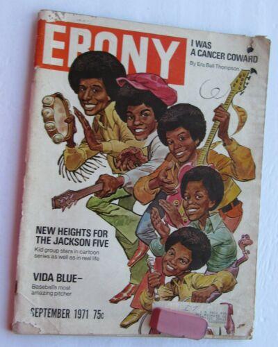 Ebony Magazine  September 1971 Jackson 5 Cover/ Vida Blue