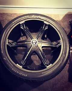 Like New 26inch Dub Rims & Tires 5x5 + 5x5 1/2