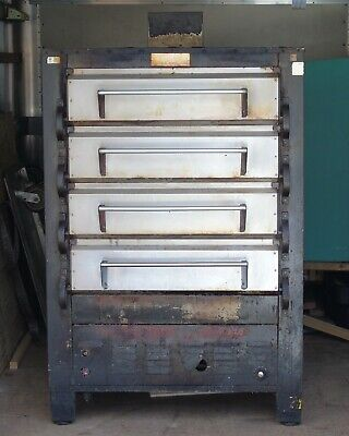 Used Peerless 2324p 41 Gas Pizza Deck Oven Four Deck 8 16 Pizza Capacity