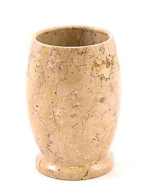 Natural Sahara Beige Marble Bathroom Tumbler Cup Accessory Spa Style Design