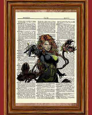 Poison Ivy Batman Dictionary Art Print Poster Picture Marvel Comic Superhero